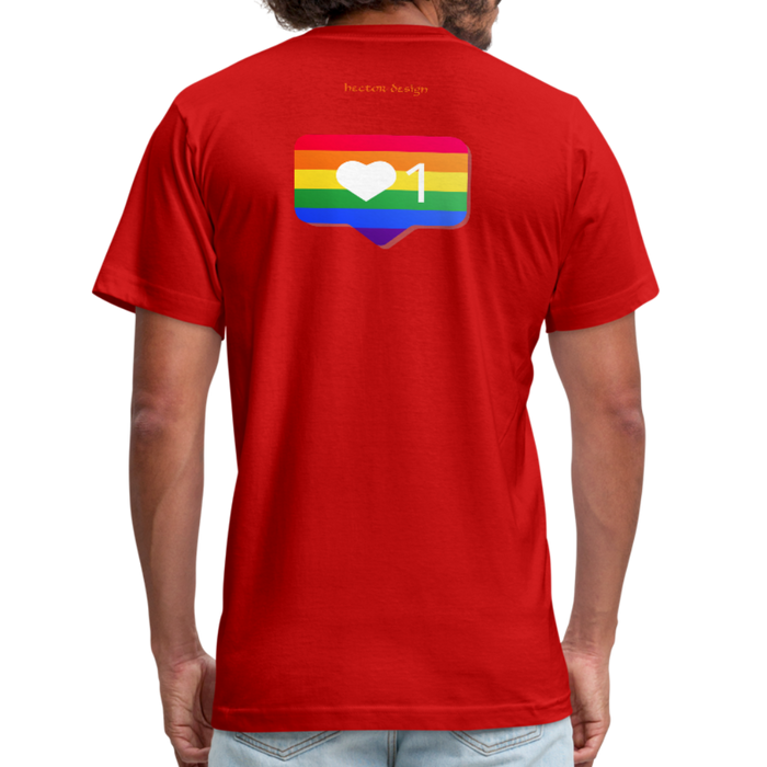 Men's  Jersey T-Shirt - Pride - red