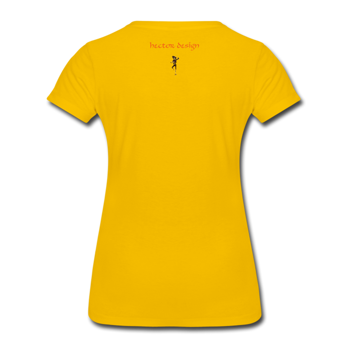 Women's Premium T-Shirt - Butterfly - sun yellow