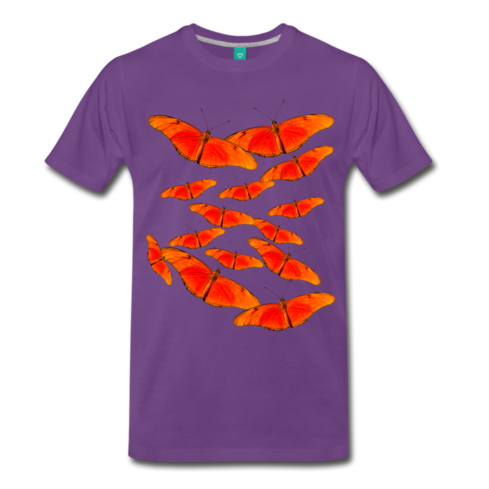 Men's Premium T-Shirt - Butterfly - purple