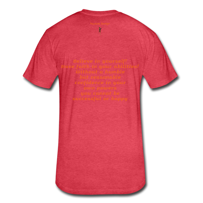 Fitted Cotton/Poly T-Shirt by Next Level - Rooster - heather red