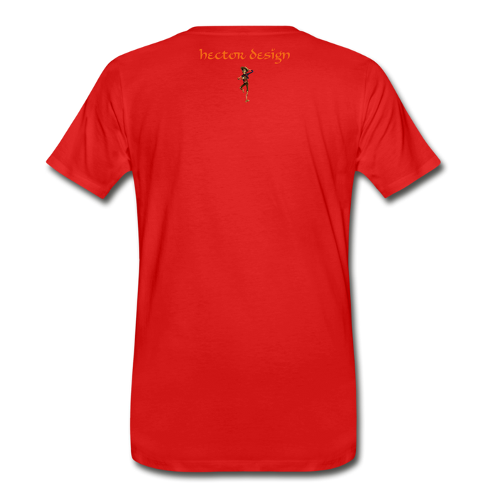 Men's Premium T-Shirt - Butterfly - red