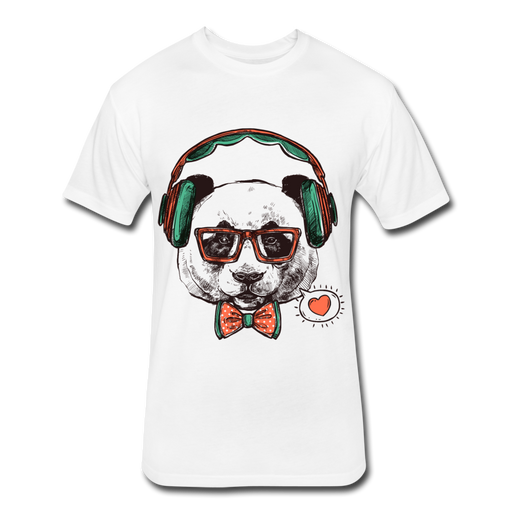Fitted Cotton/Poly T-Shirt by Next Level - Dog - white