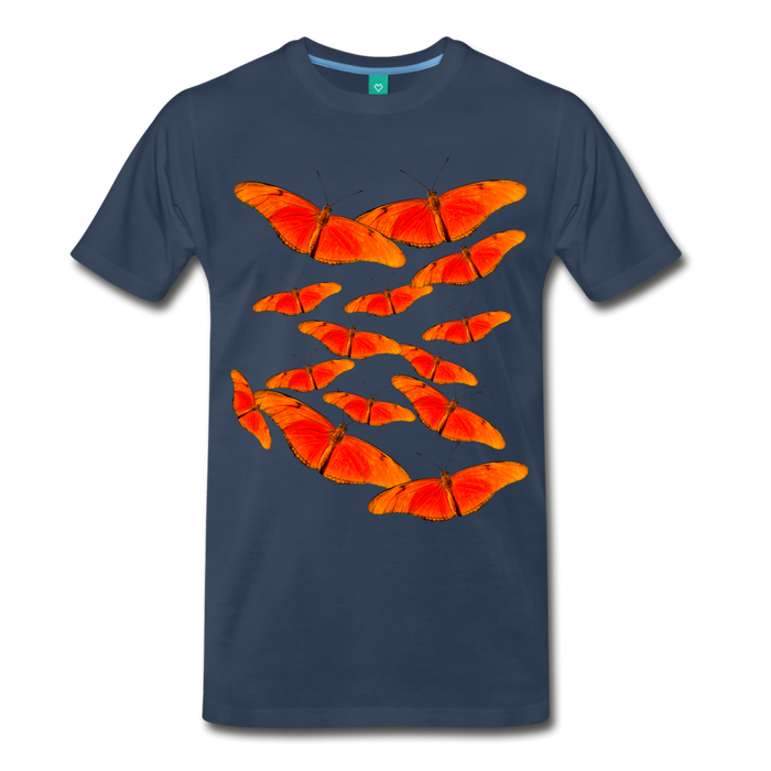 Men's Premium T-Shirt - Butterfly - navy