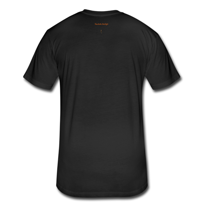 Fitted Cotton/Poly T-Shirt by Next Level - Done - black