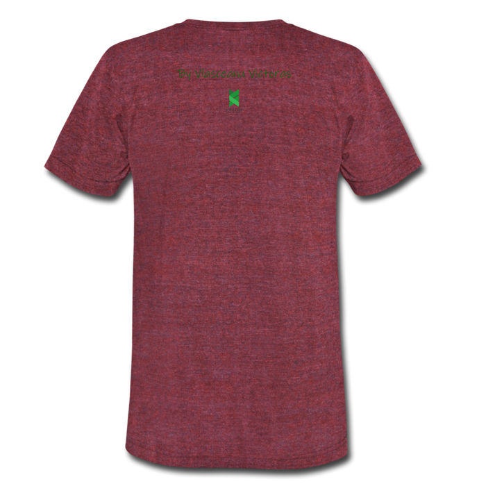 Hector Unisex Tri-Blend T-Shirt - heather cranberry