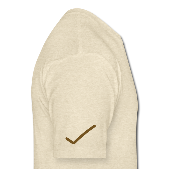 Fitted Cotton/Poly T-Shirt by Next Level - Done - heather cream