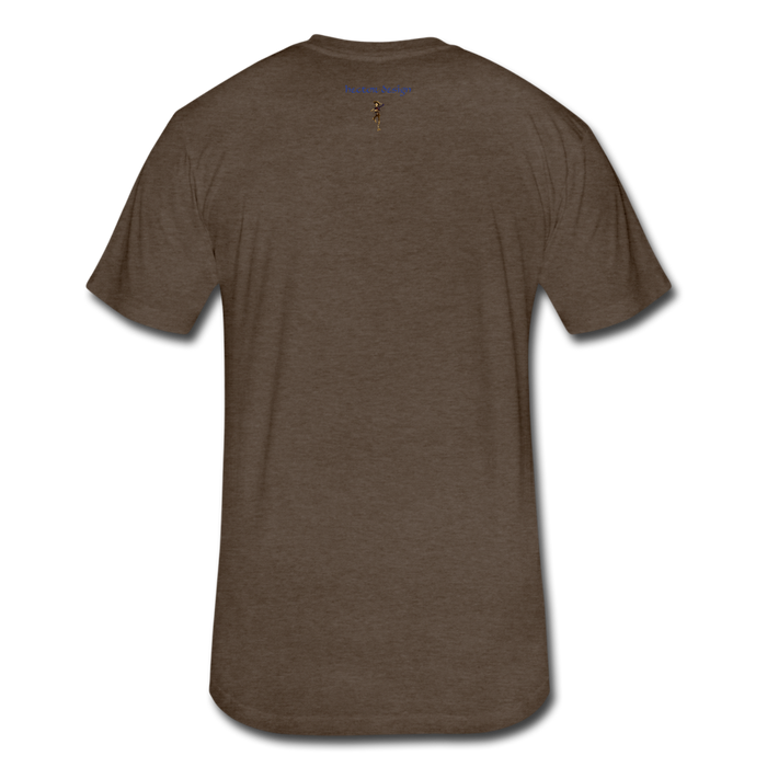 Fitted Cotton/Poly T-Shirt by Next Level - Cow - heather espresso