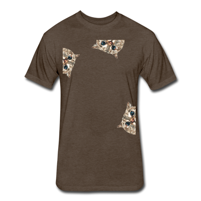 Fitted Cotton/Poly T-Shirt by Next Level - Cat - heather espresso