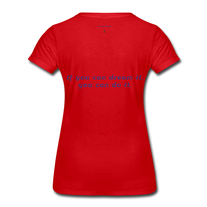 Women's Premium T-Shirt - Owl - red