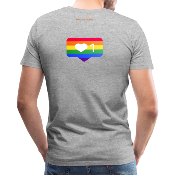 Men's Premium T-Shirt - Pride - heather gray
