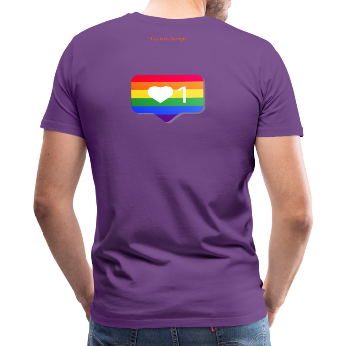 Men's Premium T-Shirt - Pride - purple