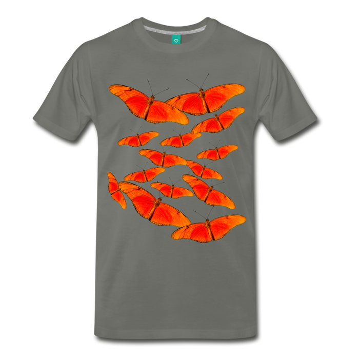 Men's Premium T-Shirt - Butterfly - asphalt gray