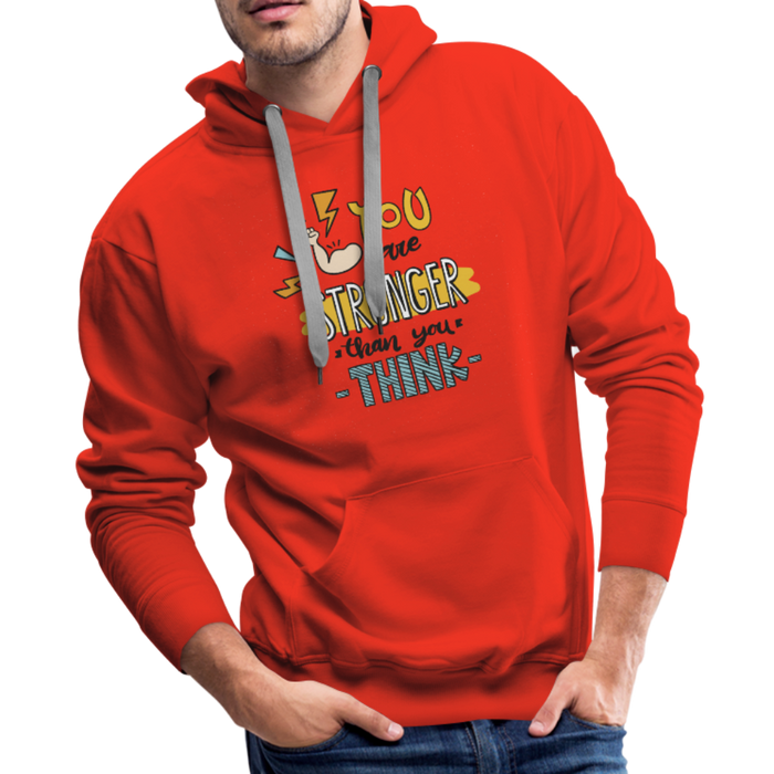 Men's Premium Hoodie - Stronger - red