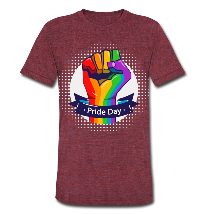 Unisex Tri-Blend T-Shirt - Pride Day - heather cranberry