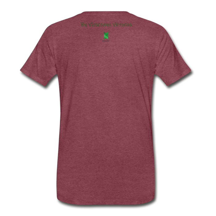 Men's Premium T-Shirt Hector - heather burgundy