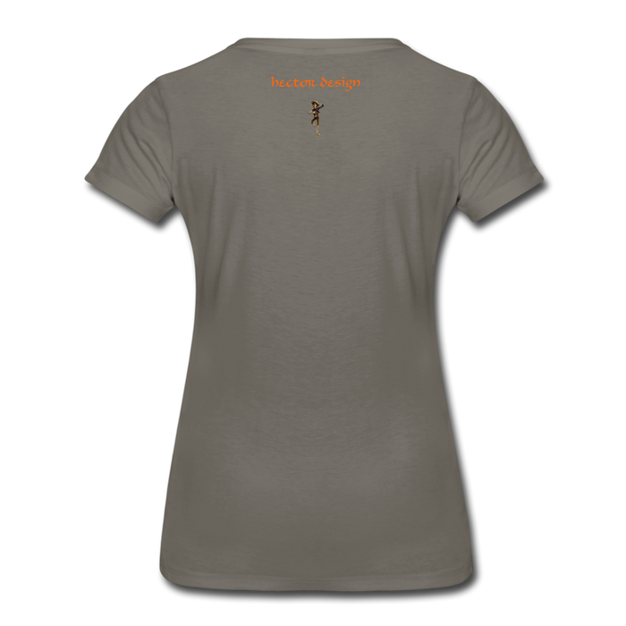 Women's Premium T-Shirt - Butterfly - asphalt gray
