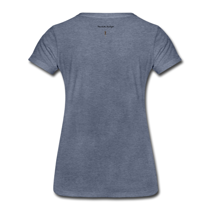 Women's Premium T-Shirt - Never Give Up - heather blue