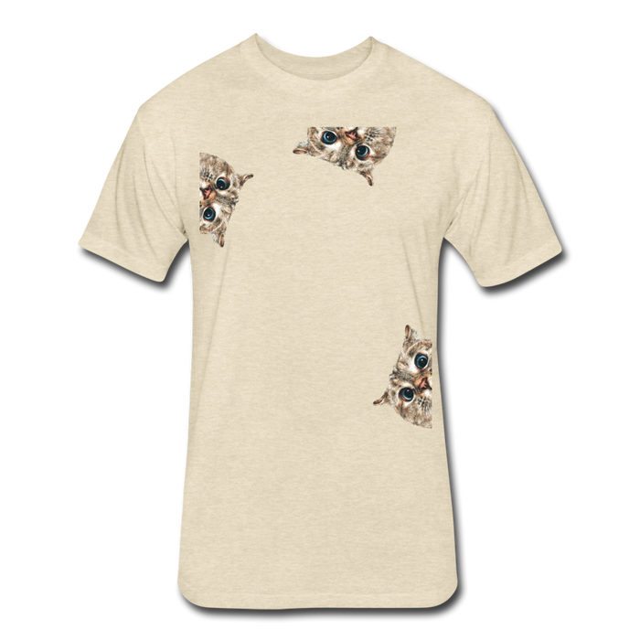 Fitted Cotton/Poly T-Shirt by Next Level - Cat - heather cream