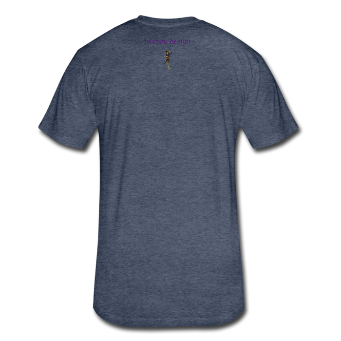 Fitted Cotton/Poly T-Shirt by Next Level - Cat - heather navy
