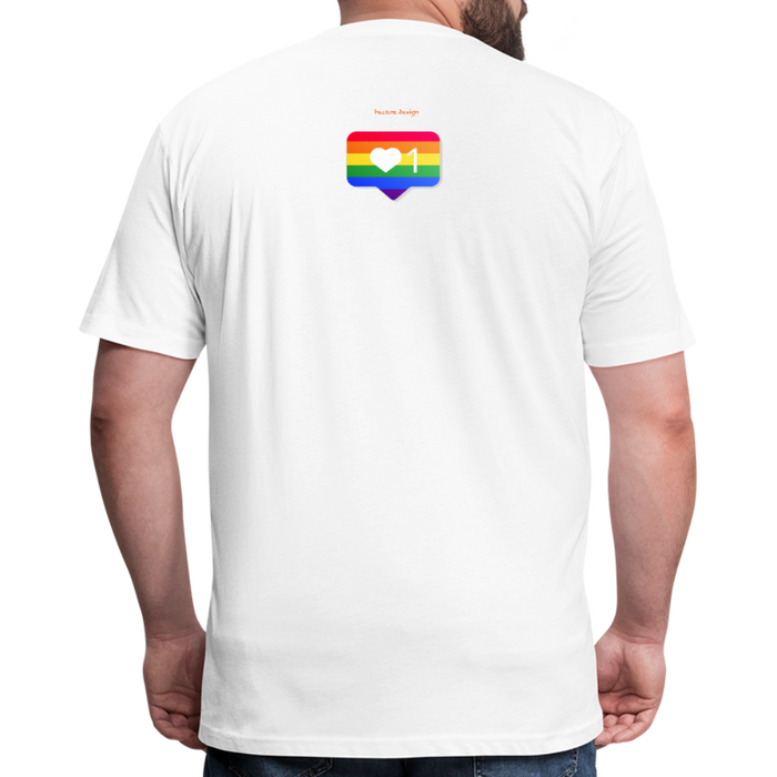 Fitted Cotton/Poly T-Shirt by Next Level - Love Wins Pride - white