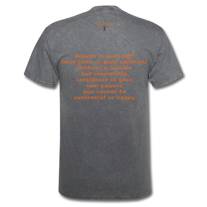 Men's T-Shirt - Rooster - mineral charcoal gray