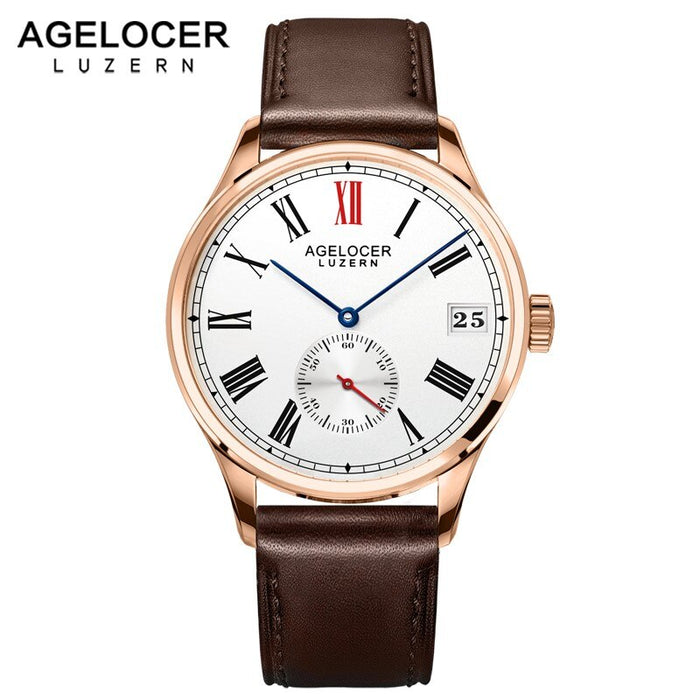 AGELCOER Antique Swizerland Wrist Watch Men 2019 Top Brand Luxury Famous Male Clock Gold Dive 50m Waterproof Watches With Box