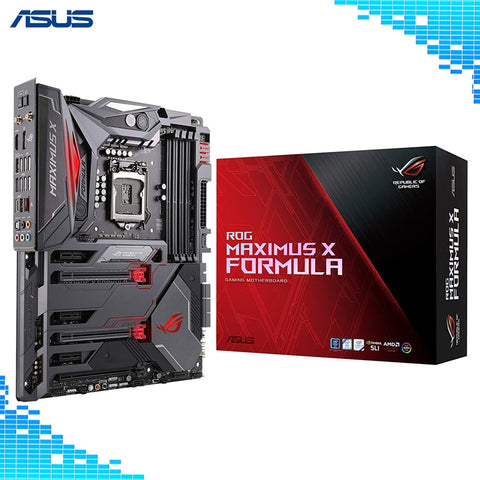 ASUS ROG Maximus X Formula LGA1151 DDR4 DP HDMI M.2 Z370 ATX Gaming Motherboard with onboard 802.11AC WiFi and USB 3.1