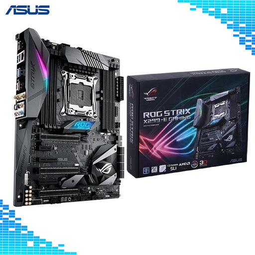 ASUS ROG STRIX X299-E GAMING LGA2066 DDR4 M.2 USB 3.1 802.11AC WIFI X299 ATX Motherboard Support Core X-Series Processors Board