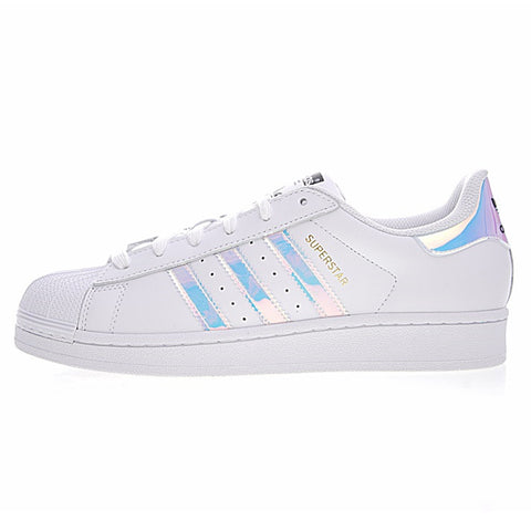 new style ce946 8aff1 Adidas Super Star Men and Women Skateboarding Shoes Outdoor Sports Designer  White Flat Wearable Lightweight Breathable
