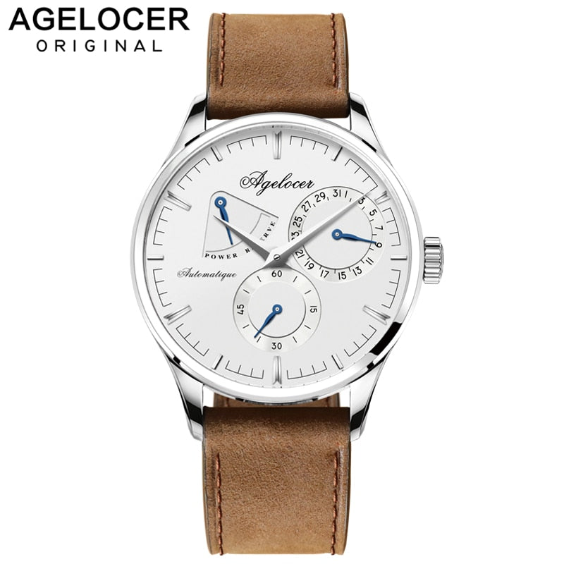 Agelocer Swiss Brand Logo Luxury Men Watch Roles Silver Gold Roman Day Calendar Automatic Watch Male wristwatch relojes hombre