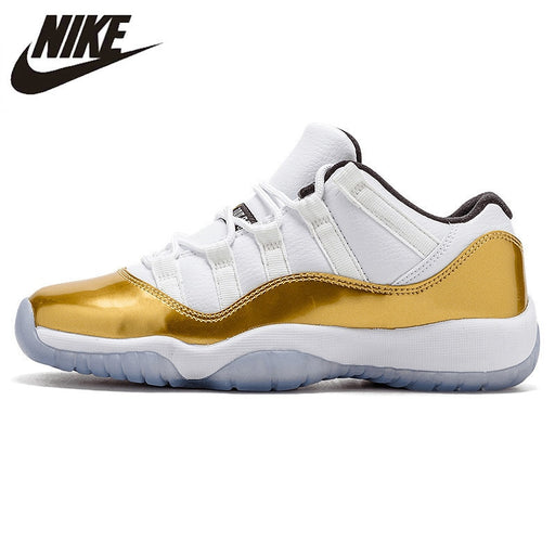 huge selection of efbb6 4e10f Air Jordan 11 Low Gold AJ11 Retro Men s Basketball Shoes Shock Absorbing  Comfortable Shoes Outdoor Sports