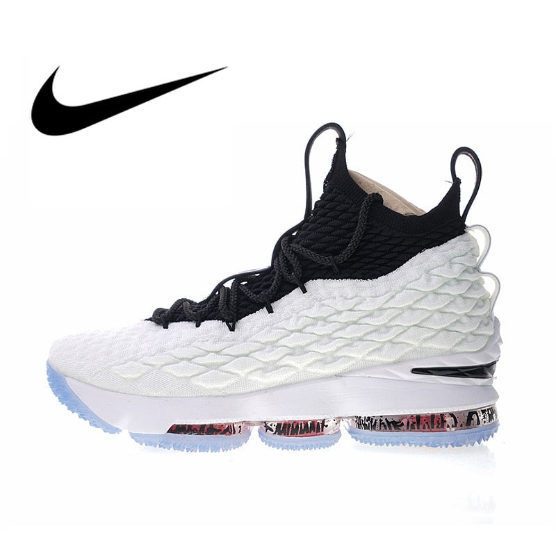 Authentic Nike LeBron 15 EP Men's Breathable Basketball Shoes Outdoor Sneakers Athletic Designer Footwear 2018 New AQ2364-100