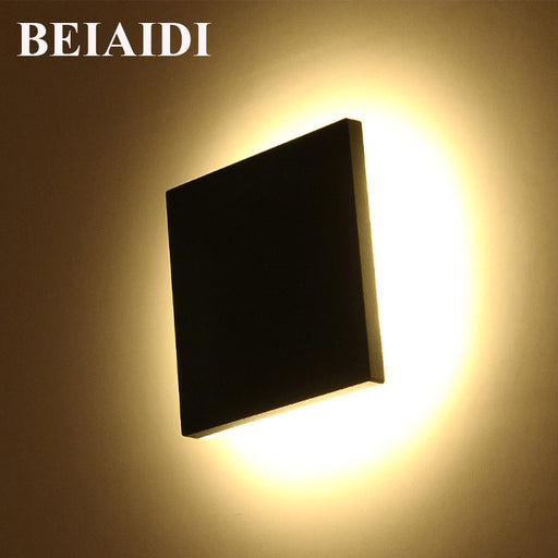BEIAIDI Square Shape Outdoor Led Wall Light 10W Garden Corridor Porch Light Waterproof Building Exterior Gate Villa Wall Sconces