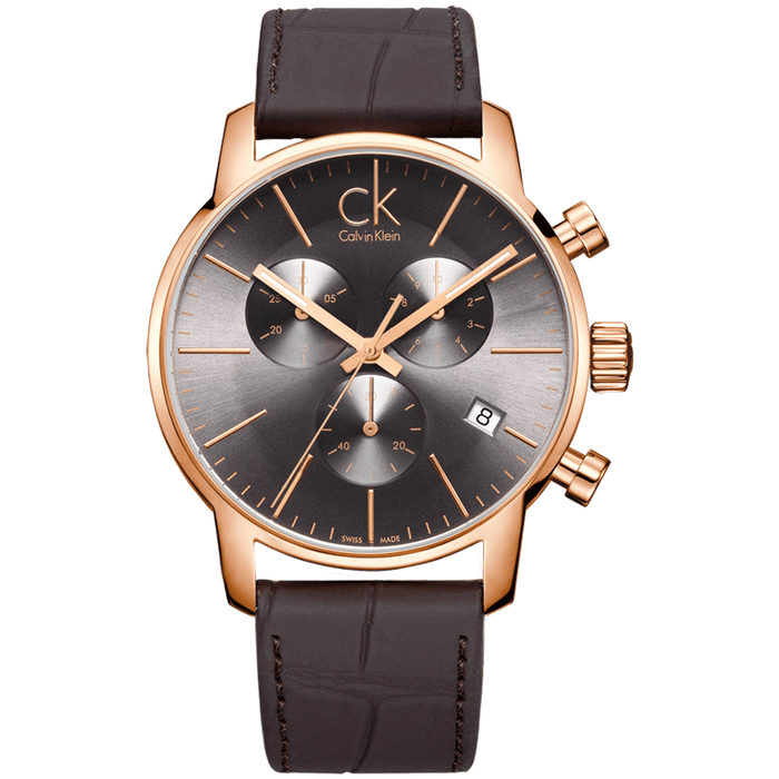 CalvinKlein CITY Series Three-eye chronograph quartz men's watch K2G276G3
