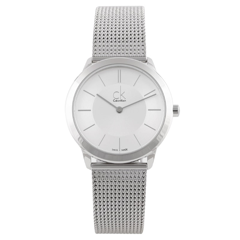 CalvinKlein MINIMAL Series Woven Quartz Ladies Watch K3M22126