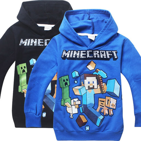 Comfortable Autumn New T Shirts Minecraft cartoon Gaming Pattern Tops Baby Girls Boys T-shirt Kids Clothes 10 Years bobo choses