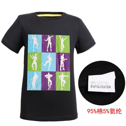Cotton Boys Summer Tops Tee Funny fortnight printed Children T shirt Gaming Dance Dab T-shirt For Kids Girls Celebrations Tshirt