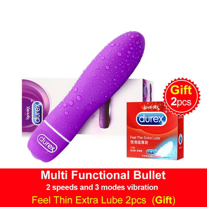 Durex Multi-functional Bullet Vibrator Waterproof G-Spot Bullet Clitoral Stimulation Intimate Goods Adult Sex Toys for Women