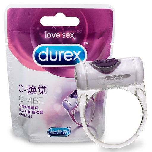 Durex O-VIBE Vibrating Cock Ring Elastic Delay Penis Rings Sex Toys For Men Clitoral Stimulation Premature Ejaculation