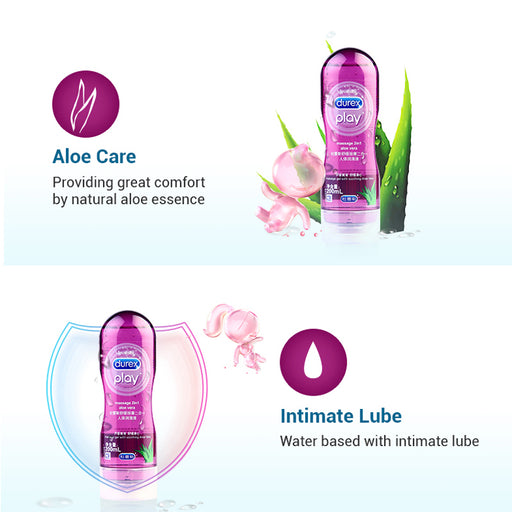 Durex Play Massage 2in1 Aloe Vera Lubricant Smoothing Lube Massage Gel Anal lubrication Intimate Goods Sex Toys for Adult Sex