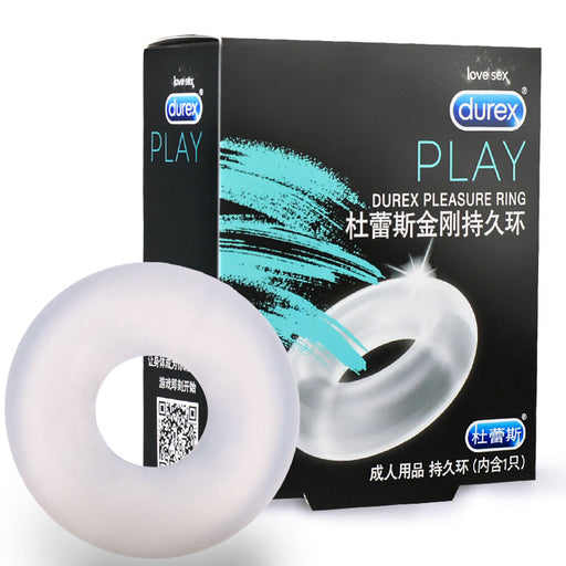 Durex Pleasure Cock Penis Ring Condoms Enlargement For Men Extender Time Intimate Goods Sex Toys for Men Reusable Condom
