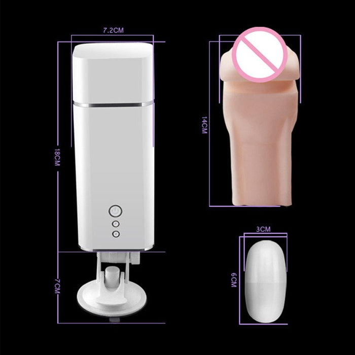 Electric Moan Masturbation Cup Automatic Sex Adults Machine Rotating & Retractable Electric Male Masturbators Sex Toys for Men