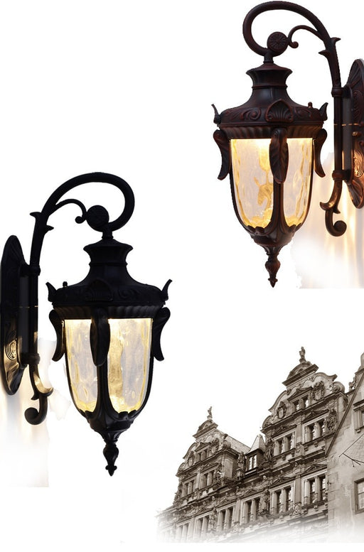 European outdoor lights waterproof wall lights  American vintage wall lamps decorated Villa lighting