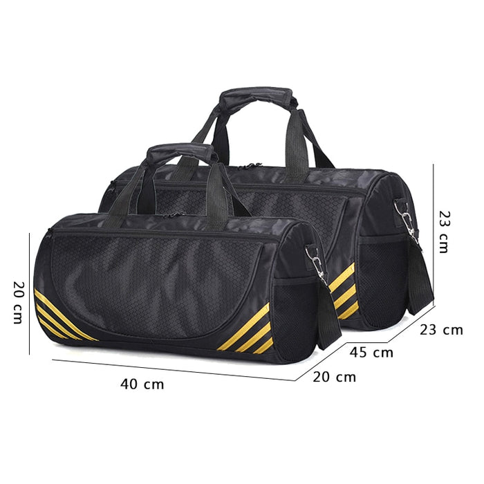 FJUN Gym Sport Bags Men and Women Quality Fitness Waterproof Multi-function Bag Outdoor Travel Camping Sports Handbag
