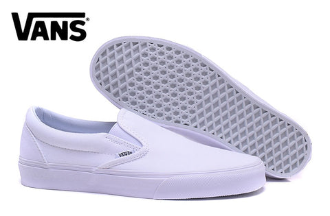 Free Shipping Vans classic all white low help Men s canvas shoes 86f9f7b3efd3