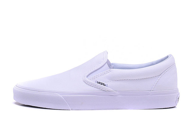 Free Shipping Vans classic all white low help Men's canvas shoes,Full White Color Sports Shoes, Vans shoes,Weight lifting shoes