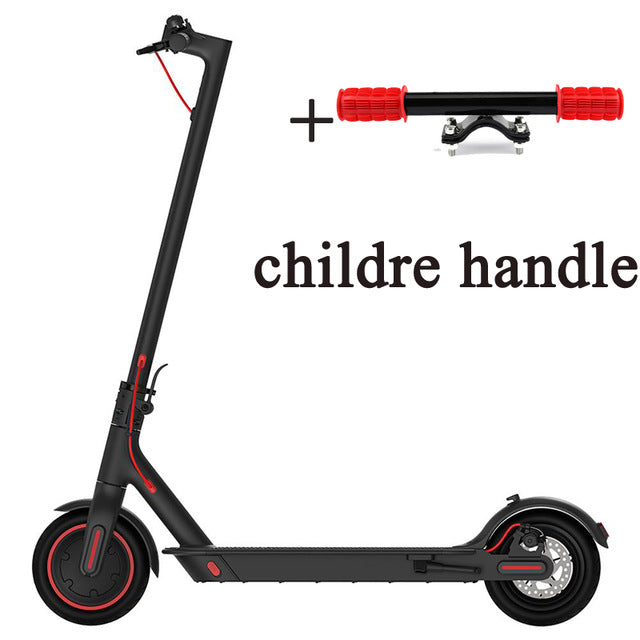 Free tax 12.8Ah Battery Xiaomi Mijia Folding Electric Scooter Pro 300W Motor max load 100kg 8.5 Inch Tire with chlidren handler