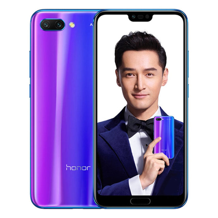 HUAWEI HONOR 10 4GB RAM 128GB ROM Hisilicon Kirin 970 2.36GHz Octa Core 5.84 Inch IPS Full Screen Android 8.1 4G LTE Smartphone