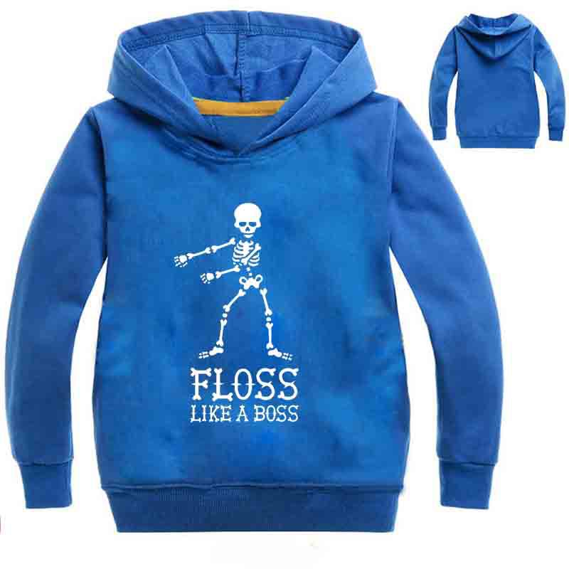 Hip Hop Floss Like A Boss Skull Clothes Boy Top Long Sleeves T Shirt Enfant Spring Fortnight Hoodie Skeleton Toddler  Shirt Thin