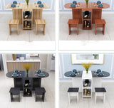 Household simplicity Folding Family Dining Room Sets Table and Chairs Home Furniture Desk Mesa de comedor plegable